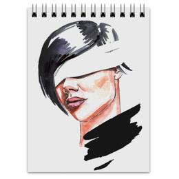 """Блокнот """"Девушка с завязанными глазами"""" - арт, девушка, глаза, акварель, девушка с повязкой"""