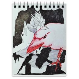 """Блокнот """"Вороны"""" - черно-белое, птицы, графика, вороны, ворон"""
