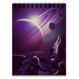 "Блокнот ""Космос 2100"" - space, планета, космос, cosmos, космонавт"