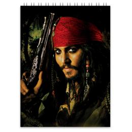 "Блокнот ""Капитан Джек Воробей."" - джонни депп, пират, капитан, джек воробей, пираты карибского моря"