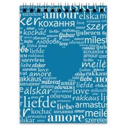 """Блокнот """"Любовь для полиглотов"""" - сердце, любовь, слова, amor"""