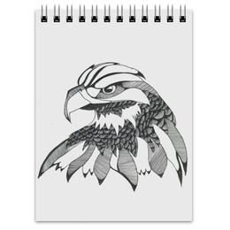"""Блокнот """"Орлуша"""" - птица, графика, орел"""