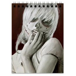 "Блокнот ""Skull girl"" - череп, девушка, смерть, санта муерте, santa muerte"