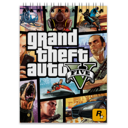 "Блокнот ""GTA 5   "" - игры, gta 5, гта, gta, grand theft auto, rockstar"