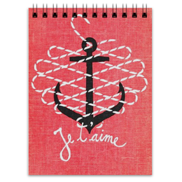 """Блокнот """"Морская любовь"""" - любовь, якорь, anchor, sailor"""