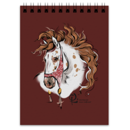 "Блокнот ""Фанданго"" - арт, ретро, красота, лошади, андалузы"