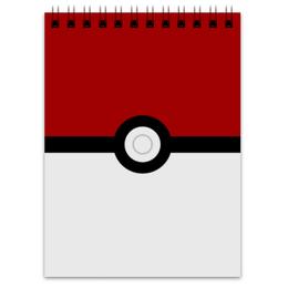 """Блокнот """"Pokeball"""" - нинтендо, nintendo, pokemon go, покемон го, покеболл"""