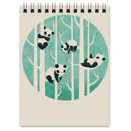"""Блокнот """"Панды"""" - панда, рисунок, сон, дерево, лень"""