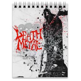 """Блокнот """"Death Metal"""" - череп, готика, смерть, death metal, металл"""