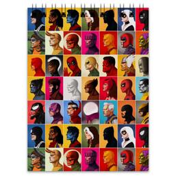"Блокнот ""Марвел"" - комиксы, росомаха, марвел, тор, дэдпул"
