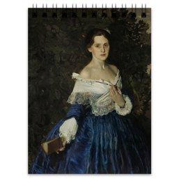 "Блокнот ""Дама в голубом (картина Сомова)"" - картина, портрет, живопись, модерн, сомов"