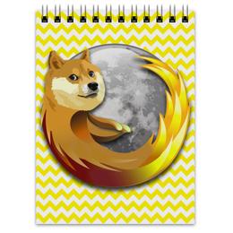 "Блокнот ""Doge Firefox"" - dog, doge, mozilla firefox"