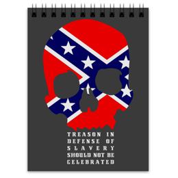 """Блокнот """"Флаг Конфедерации США"""" - америка, флаг, сша, флаг конфедерации, череп"""