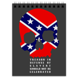 "Блокнот ""Флаг Конфедерации США"" - череп, америка, флаг, сша, флаг конфедерации"