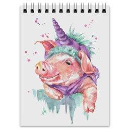 """Блокнот """"Сегодня я Свинорог"""" - новый год, свинка, поросенок, свинья символ года, свинорог"""