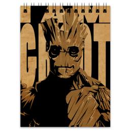 "Блокнот ""Грут (Groot)"" - комиксы, марвел, стражи галактики, groot, guardians of the galaxy"