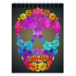 """Блокнот """"Skull Art"""" - skull, череп, цветы, черепа, skulls"""