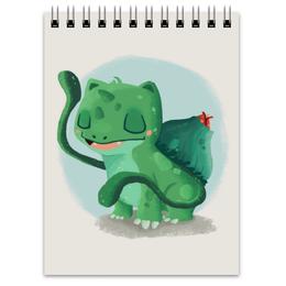"""Блокнот """"Бульбазавр"""" - bulbasaur, покемон го, нинтедо, венузавр, ивизавр"""