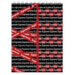 """Блокнот """"Supreme"""" - надписи, бренд, brand, supreme, суприм"""