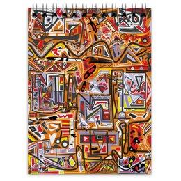 """Блокнот """"Оранжевый дом."""" - арт, узор, абстракция, фигуры, текстура"""