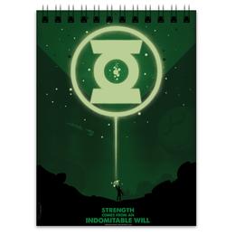 "Блокнот ""Green Lantern/Зеленый Фонарь "" - комиксы, green, lantern, green lantern, dc comics"