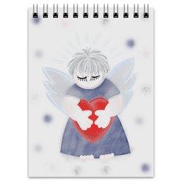 """Блокнот """"Маленький сердечный ангел"""" - любовь, ангел, день святого валентина, малыш, день влюбленных"""