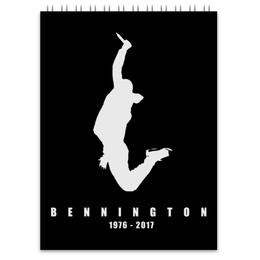 "Блокнот ""Chester Bennington"" - рок, линкин парк, chester, честер"