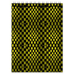 "Блокнот ""Квадраты"" - графика, гонки, кубики, квадраты, такси"