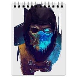 "Блокнот ""Mortal Kombat"" - скорпион, мортал комбат, scorpion, sub-zero, саб-зиро"