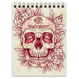 "Блокнот ""Santa Muerte skull"" - skull, череп, смерть, санта муерте"