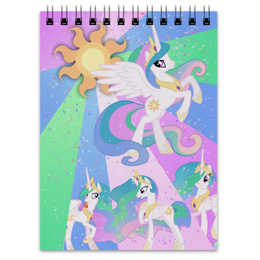 "Блокнот ""Princess Celestia Color Line"" - magic, princess celestia, cutiemark, friendship"