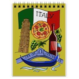"Блокнот ""Италия. ITALY. ITALIA."" - италия, мечта, флаг, путешествия, башня"