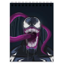 "Блокнот ""Веном (Venom)"" - комиксы, venom, марвел, веном, симбиот"