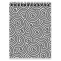 """Блокнот """"Радиальный"""" - узор, стиль, рисунок, круги, кольца"""