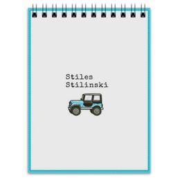 """Блокнот """"Джип Стилински"""" - волчонок, джип, стайлз, стилински"""