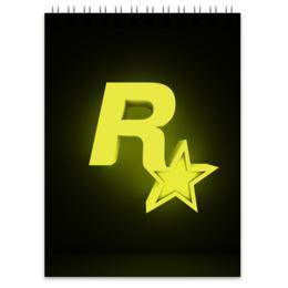 "Блокнот ""Rockstar Games"" - rockstar, рокстар, rockstar games"