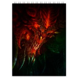 """Блокнот """"Diablo III"""" - диабло, близзард, blizzard"""