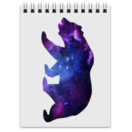 """Блокнот """"Space animals"""" - space, bear, медведь, космос, астрономия"""