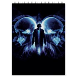 "Блокнот ""Эффект бабочки"" - череп, кино, фантастика, будущее, эштон катчер"