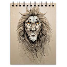 """Блокнот """"Лев  """" - арт, лев, lion"""