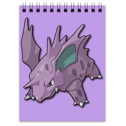 """Блокнот """"Нидорино"""" - нинтендо, nintendo, pokemon go, покемон го, nidorino"""