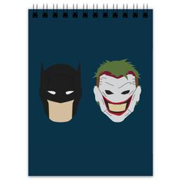 "Блокнот ""Бэтмен и Джокер"" - joker, комиксы, batman, джокер, бэтмен"