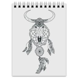 "Блокнот ""Skull"" - skull, череп, ловец снов, dreamcatcher"