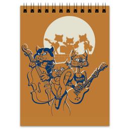 "Блокнот ""Кошачий концерт"" - музыка, группа, кошки, концерты, джаз"