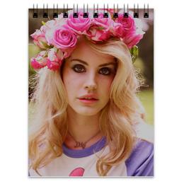 """Блокнот """"Lana Del Rey """" - цветы, flowers, lana del rey, лана дель рей"""