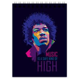 """Блокнот """"Джими Хендрикс"""" - музыка, рок, rock, jimi hendrix, джими хендрикс"""
