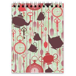"""Блокнот """"Рецептурный"""" - часы, самовар, чайный, кухонный, кофейный"""