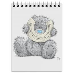 "Блокнот ""Мишка Тедди"" - подкова, teddy bear, мишка тедди"