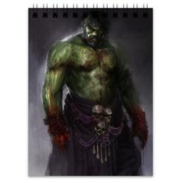 """Блокнот """"Халк (Hulk)"""" - комиксы, hulk, марвел, халк, баннер"""