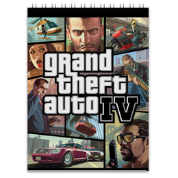 "Блокнот ""Grand Theft Auto 4"" - auto, grand theft auto, gta, iv"